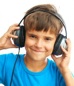 photo of boy wearing headphones, image 5
